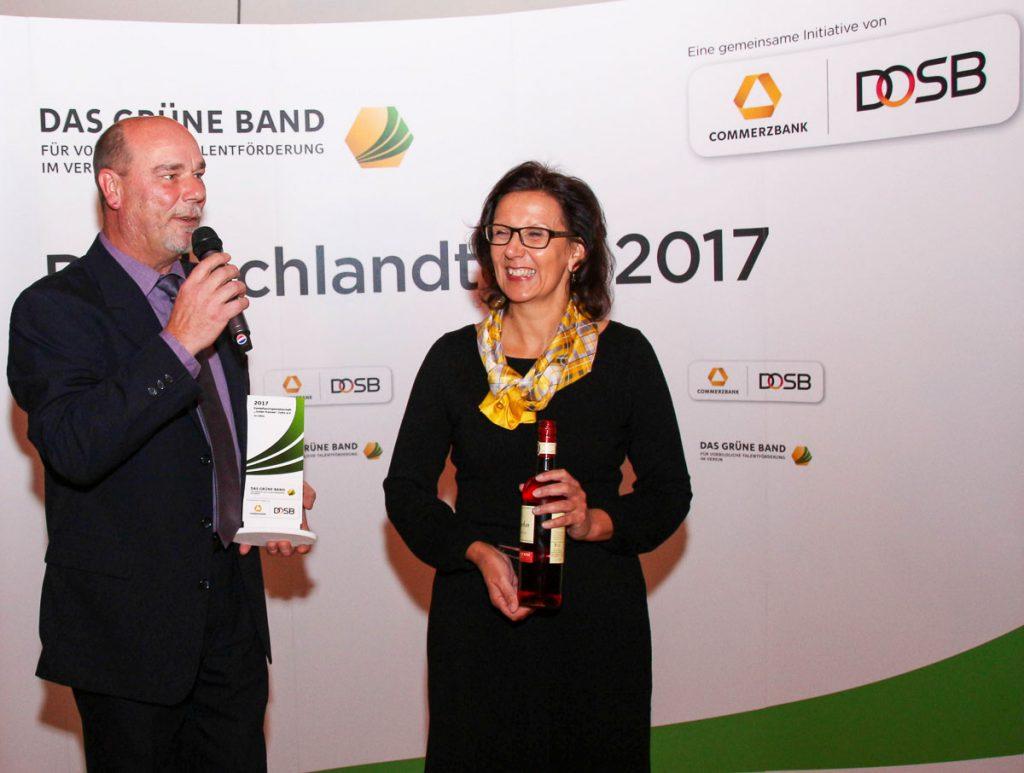 Grünen Band für vorbildliche Talentförderung